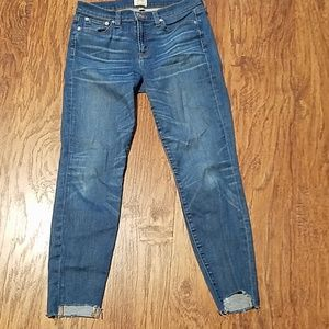 J.Crew shark bite high-rise med wash jeans SZ 28